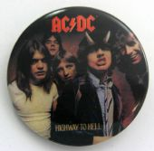 AC/DC - 'Highway to Hell' Large Button Badge